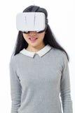 Adolescente avec les lunettes 3D Photos stock
