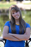 Adolescente in azzurro Fotografie Stock