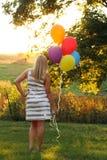 Adolescente backlit artístico Fotos de Stock Royalty Free