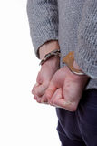 Adolescente bajo detención Foto de archivo libre de regalías