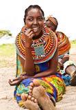 Adolescente bastante africano Fotografía de archivo