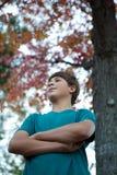 Adolescente bello all'aperto Fotografia Stock Libera da Diritti