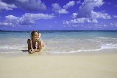 Adolescente in bikini dentellare Fotografie Stock