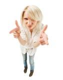 Adolescente blonde mignonne Image libre de droits