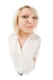 Adolescente blonde mignonne Photos libres de droits