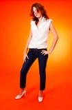 Adolescente bold(realce) novo.   fotografia de stock