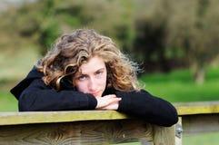 Adolescente bonito al aire libre Fotografía de archivo