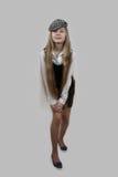 Adolescente bonito con el pelo muy largo Imagen de archivo