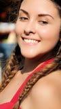 Adolescente bonito con el pelo trenzado Fotos de archivo libres de regalías