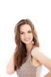 Adolescente bonito con una sonrisa de acoplamiento Fotos de archivo