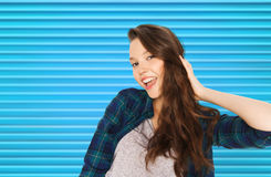 Adolescente bonito de sorriso feliz fotos de stock