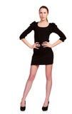 Adolescente bonito en alineada negra Imagen de archivo libre de regalías
