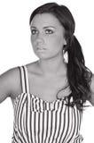 Adolescente bonito en alineada rayada Foto de archivo libre de regalías