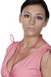 Adolescente bonito en color de rosa Imágenes de archivo libres de regalías