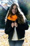 Adolescente bonito en estilo retro Fotos de archivo