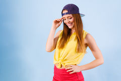 Adolescente bonito en ropa de moda Imagen de archivo