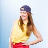 Adolescente bonito en ropa de moda Imágenes de archivo libres de regalías
