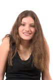 Adolescente bonito no tanktop preto Imagens de Stock