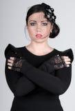 Adolescente bonito no véu imagem de stock