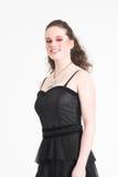 Adolescente bonito no vestido de partido fotografia de stock