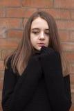 Adolescente bonito que amontona en su puente Imagen de archivo libre de regalías