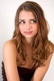 Adolescente bonito que hace la expresión dañosa Fotos de archivo libres de regalías
