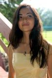 Adolescente bonito que mira lejos Imagen de archivo