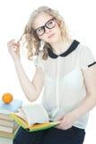 Adolescente bonito sobre blanco Imagenes de archivo