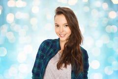 Adolescente bonito sonriente feliz Imagen de archivo