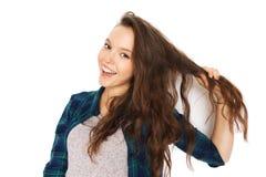 Adolescente bonito sonriente feliz Fotografía de archivo