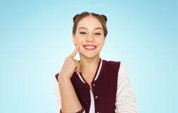 Adolescente bonito sonriente feliz Imagenes de archivo