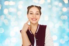 Adolescente bonito sonriente feliz Foto de archivo