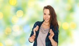Adolescente bonito sonriente feliz Imagen de archivo libre de regalías