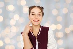 Adolescente bonito sonriente feliz Imágenes de archivo libres de regalías