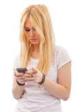 Adolescente bonito Texting Foto de archivo