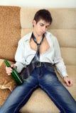 Adolescente borracho Fotos de archivo libres de regalías