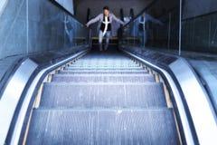 Adolescente borroso en las escaleras Fotografía de archivo