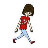 adolescente cómico de la historieta Imágenes de archivo libres de regalías