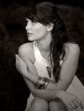 Adolescente cabelludo hermoso de Brown Fotos de archivo