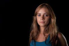 Adolescente cabelludo rubio Fotografía de archivo