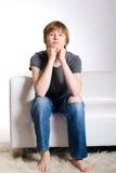 Adolescente calmo di redhead Fotografia Stock