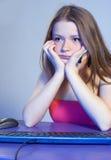 Adolescente cansado Imágenes de archivo libres de regalías