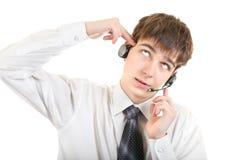 Adolescente cansado con las auriculares Fotografía de archivo libre de regalías