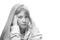 Adolescente cansado de moralejas Imagenes de archivo