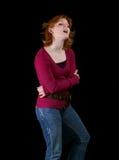 Adolescente cantando uma canção fotos de stock
