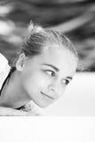 Adolescente caucásico rubio hermoso de la muchacha Imagen de archivo