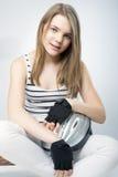 Adolescente caucásico sonriente Imágenes de archivo libres de regalías