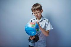 Adolescente cerca de diez años europeos Foto de archivo libre de regalías
