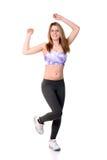 Adolescente che fa allenamento di forma fisica Fotografie Stock Libere da Diritti
