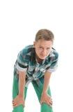 Adolescente che piega in avanti Fotografia Stock Libera da Diritti